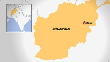 afganistan kabul kartta