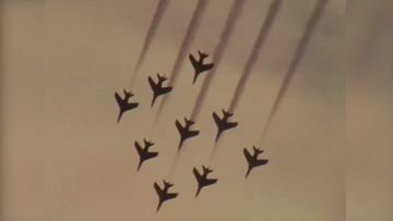 Red Arrows kaivopuistossa 1970