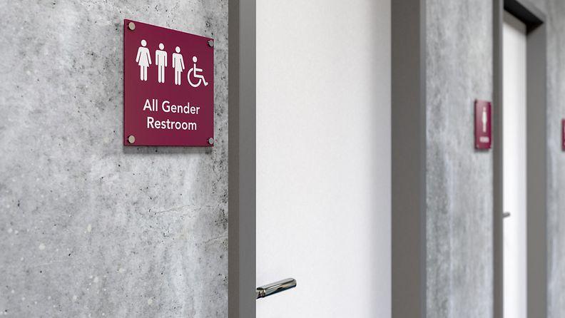 unisex sukupuolineutraali wc vessa