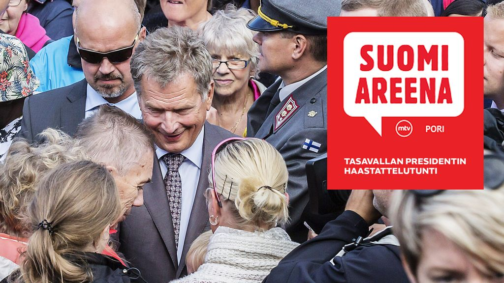 Mitä sinä haluaisit kysyä presidentiltä? Tasavallan presidentin haastattelutunti SuomiAreenalla ...