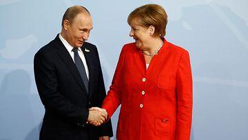 G20 Putin, Merkel