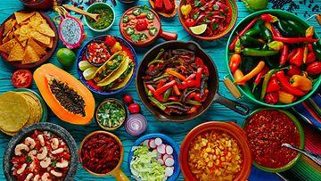 Chili mausteinen ruoka meksikolainen