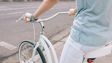 pyöräily, nainen