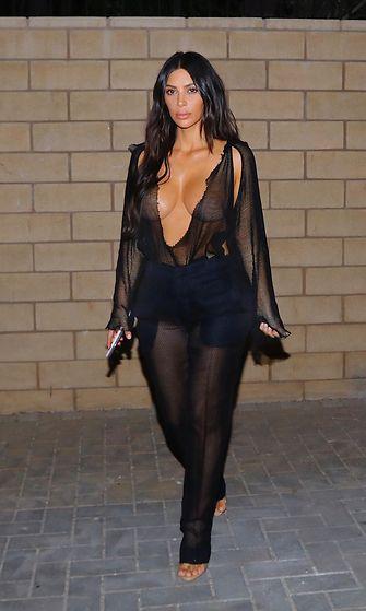 Kim Kardashian menossa treffeille Kanyen kanssa 20.7.2017 4