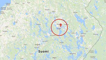 Kuopio, kuvakaappaus Google Mapsista