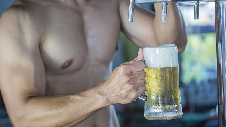 Olut kasvattaa lihaksia