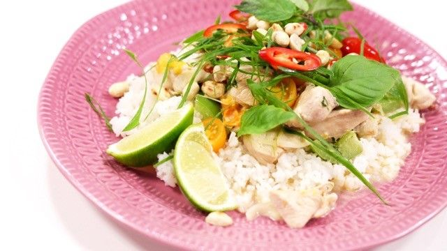 Thaimaalainen broilericurry