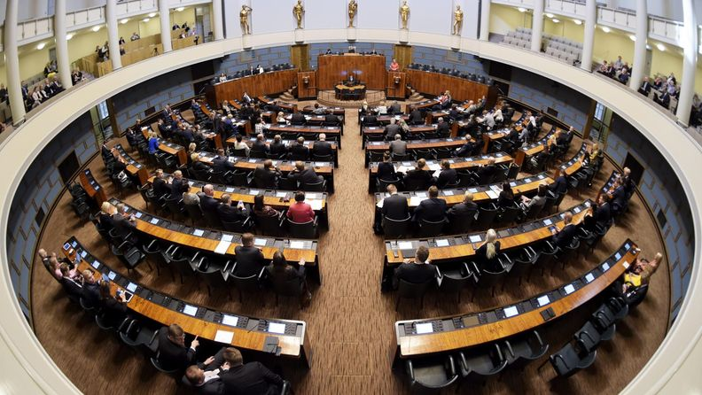 Eduskunta istuntosali