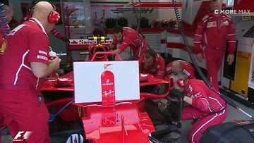 Kimi Räikkönen, varikko, Malesia, 2017, Ferrari