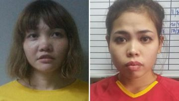 This combination of file handout pictures released by the Royal Malaysian Police in Kuala Lumpur on February 19, 2017 shows suspects Doan Thi Huong of Vietnam (L) and Siti Ashyah of Indonesia (R), who were detained in connection to the February 13, 2017 assassination of Kim Jong-Nam, the half brother of North Korean leader Kim Jong-Un. The two women pleaded not guilty on October 2, 2017 to murdering Kim Jong-Nam, the half-brother of North Korea's leader, at the start of their trial in Malaysia over the Cold War-style assassination that shocked the world.