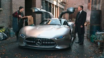 mercedes amg vision gran turismo batman justice league
