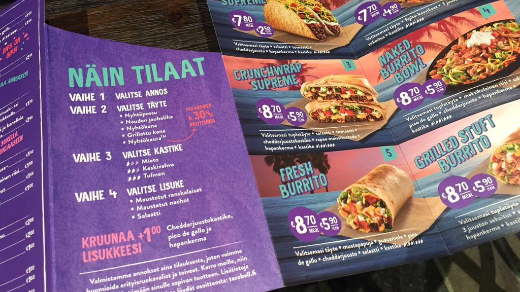 Taco Bell Menu Suomi