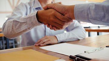 työhaastattelu, neuvottelu, sopimus