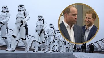 Star Wars The Last Jedi stormtrooperit William ja Harry 2017