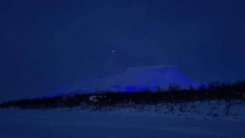 saana valotaideteos Luminous Finland 100 saanatunturi