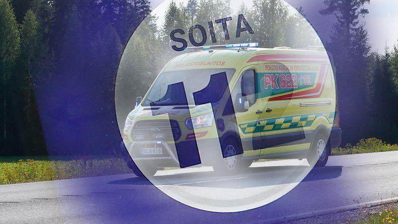 AOP ambulanssi kuvitus 112 hätänumero hätäpuhelu 1.03629295