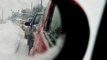 ruuhka helsinki talvi liikenne