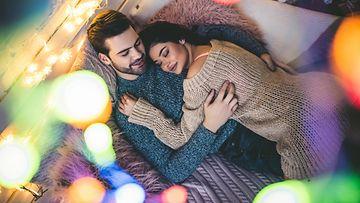 talvi, uusivuosi, pariskunta