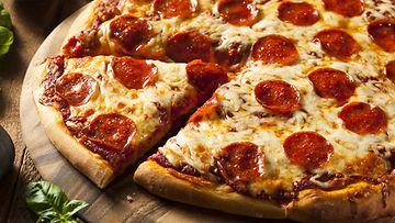 pizza, basilika