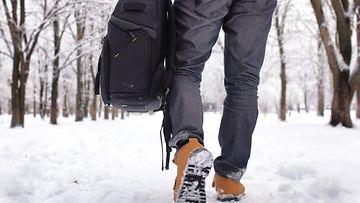 talvi, kävely