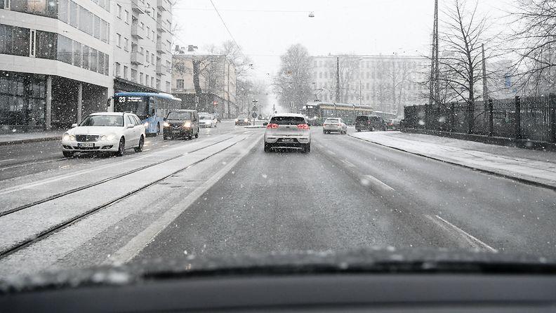 talvi liikenne helsinki