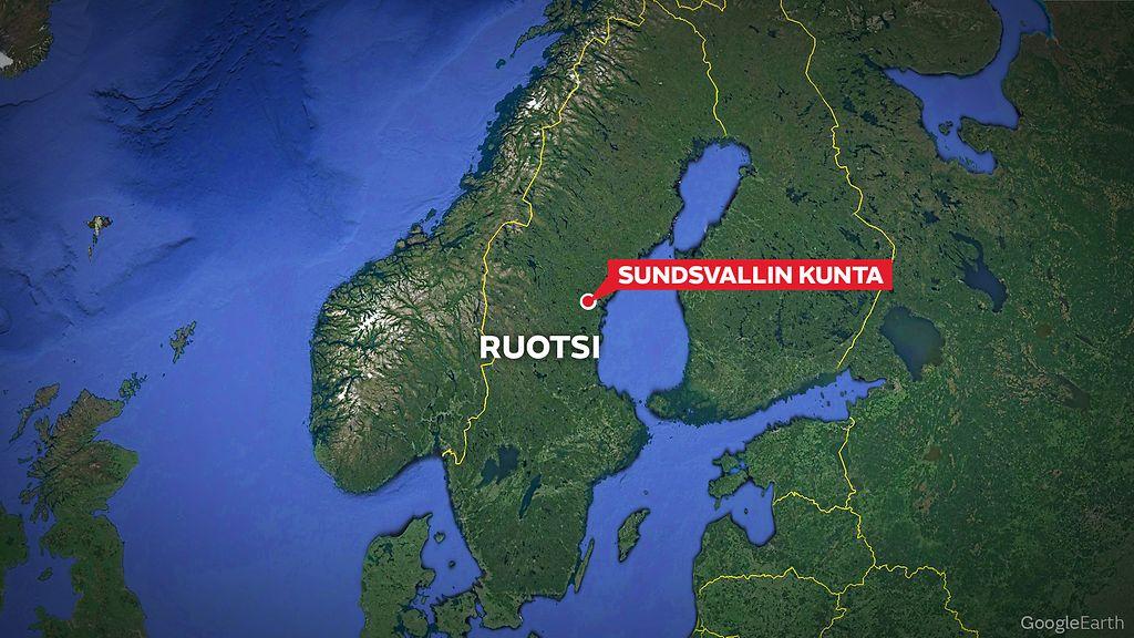 Pommiuhka Pankissa Keski Ruotsissa Poliisin Pommiryhma Matkalla