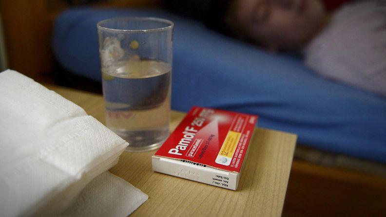 lapsi sairaana