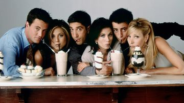 Frendit: Matthew Perry, Jennifer Aniston, David Schwimmer, Courteney Cox, Matt LeBlanc, Lisa Kudrow