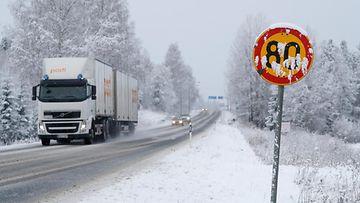 talvinopeus nopeusrajoitus talviautoilu liikennemerkki