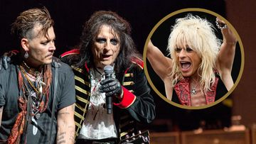 Johnny Depp, Alice Cooper ja Michael Monroe 2017