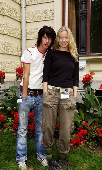 Olavi Uusivirta ja Henna Vänttinen (Zulu-ohjelman juontajat) vuonna 2003