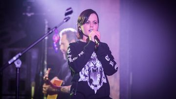 Dolores O'Riordan lavalla 20.5.2017 Lontoossa The Cranberries