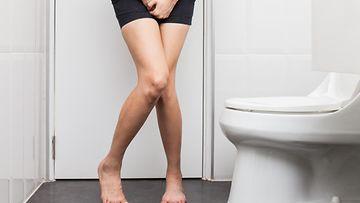 nainen vessassa virtsatietulehdus