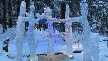 Jääveistos, Ikurin Virelän Pyhäpolku