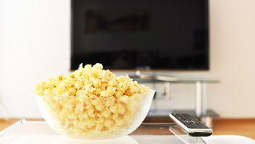 tv tv:n katselu televisio television katselu popcorn