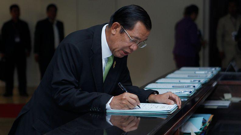 Kambodzan pääministeri Hun Sen