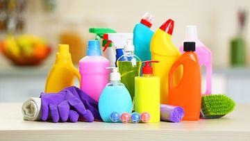 siivoustuotteita