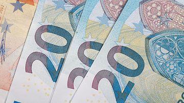 AOP käteinen raha rahat setelit lomakko 20 euro 1.03714438