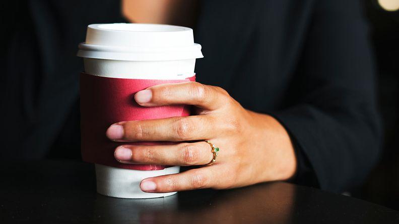 kahvikuppi kahvilasta