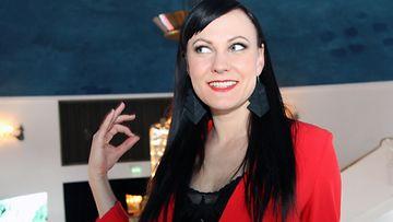 Mira Luoti Vain elämää -pressissä 10.4.2018 2