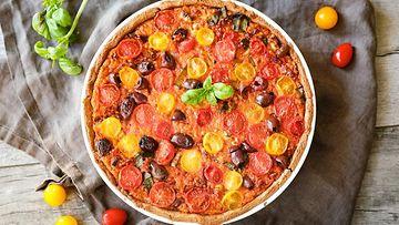 ruokaisa tomaattipiirakka