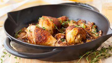 paistettu kana broileri