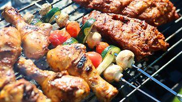 grilli kasvikset liha