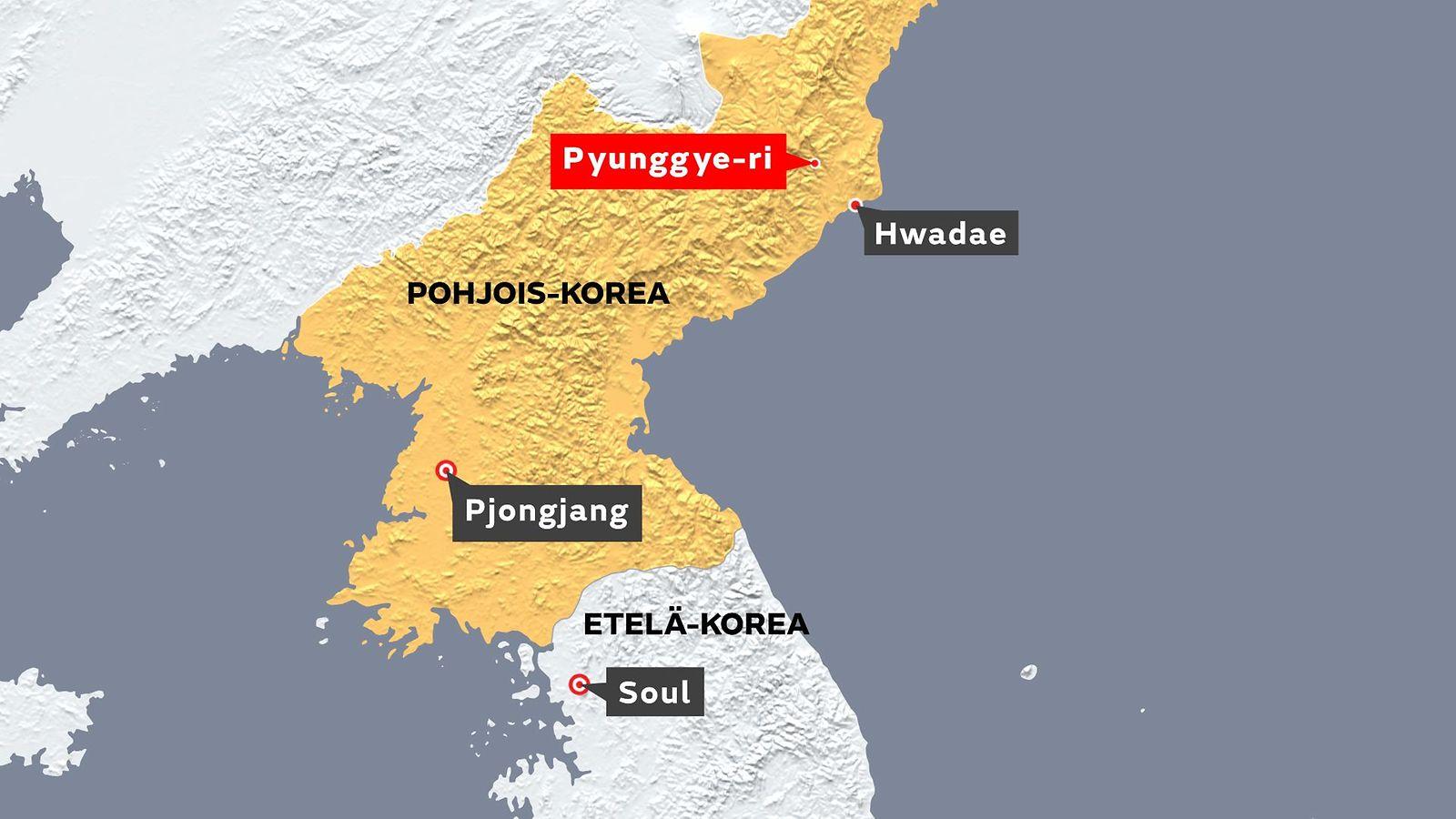 Pohjois Korea Kartta