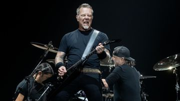 Metallica Hartwall Arena 9.5.2018 James Hetfield, Robert Trujillo, Lars Ulrich