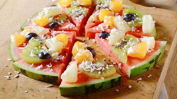 vesimeloni hedelmät pizza
