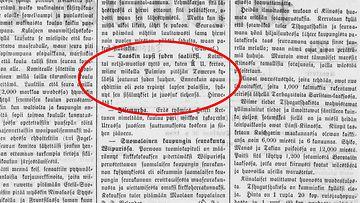 Wirallinen-lehti kertoi susihyökkäyksestä vuonna 1880 vain pikku-uutisena.