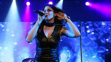 Nightwishin Floor Jansen Helsingin-keikalla.