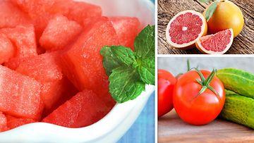 kollaasi hedelmät