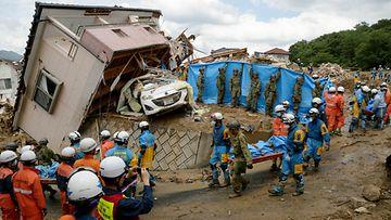 Japani, AOP, tulva, maanvyöry, katastrofi